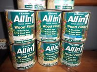 Lots of unopened tins of Blackfriar wood finish 500ml £1 each.
