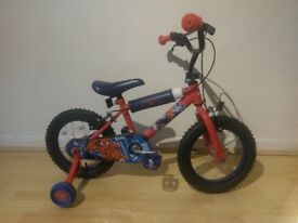 Ultimate spiderman kids bike 14inch wheel size