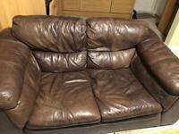 2 seat leather sofa L164/W88/H80