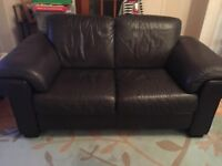2 and 3 seater leather sofa. Exc cond