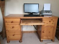 Solid Pine Computer Office Desk
