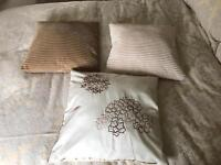 Two Trios of cushions