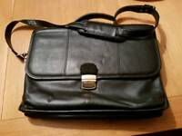 Leather Domo briefcase