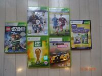 xbox 360 Games Fifa 14 & 15; 2014 Brazil World Cup;Forza Horizon,Kinect Sports, Star Wars 3 Lego,