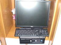 Dell Optiplex 755,Core 2 Duo-E8400, 3.0GHz, 4GB Ram 250GB Windows 10 & WiFi