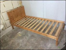 2 x pine framed single beds (3foot wide)