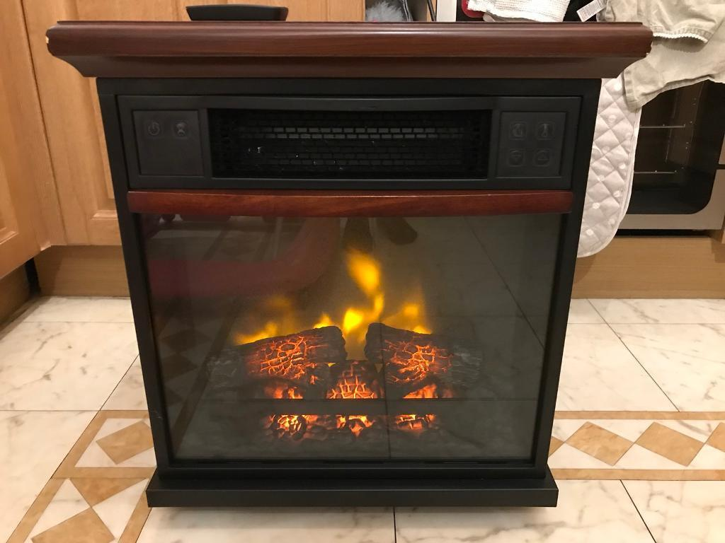 Twin Star Plug In Heater Fire Place Duraflame Infrared With Remote