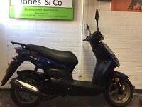 Sym Symply 50 cc scooter moped (2014) Blue 6700 miles