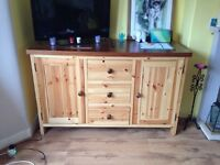 Solid wood table / drawers / cupboard / cabinet. Modern storage