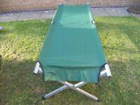 Steel Framed Single Folding Camp Bed