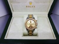 New Swiss Rolex Daytona Iced Bezel for sale!