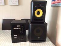 KRK Rokit Studio Speaker/Monitor Set (2 x KRK Rokit 8 & 1 x KRK 10s)