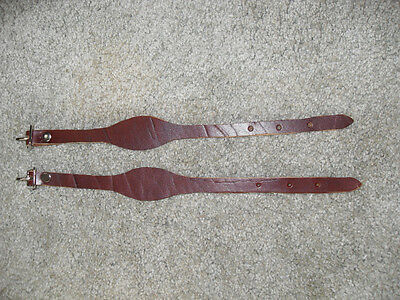 NEW USA MADE LEATHER SADDLE STIRRUP HOBBLES / HOBBLE STRAPS, LATIGO COLOR NICE