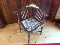 Edwardian Antique Corner Chair