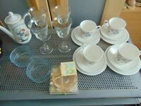 house items,joblot,carboot,tea cups,very cheap,glass