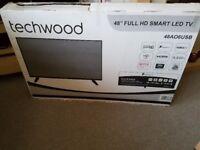 TECHWOOD 48 INCH FULL HD/1080P LED SMART TV (NEW)