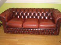 chesterfeild 3 seater leather