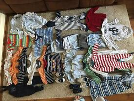 Big bundle of baby boys clothes 6-9 months various brands