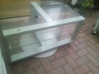 glass tv unit, in good condition, can deliver if needed
