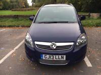 2013 Vauxhall Zafira Exclusiv 1,6 Petrol,Full Vauxhall History service,2 Keys, Sensor parking