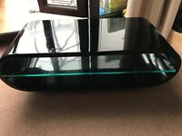 "Black glass TV stand, excellent condition easily fits a 48"" flat screen tv"