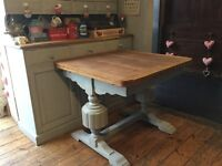 Vintage shabby chic extending dining / kitchen table