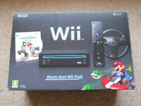 Nintendo Wii Mario Kart Pack Special Edition in Black