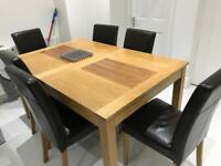 8 chairs and dinning table