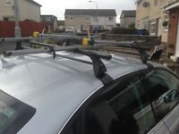 Audi A4 roof bars and two cycle carriers