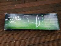 2 10FT X 6FT PVC GOAL WITH NET AND ANCHORS