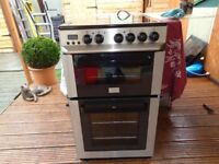 zanussi ceramic electric cooker 50 cm double oven