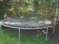 Very solid circular tramopline - 13 foot diameter - rusty but safe springs hence £50