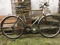 Beautiful vintage motobecane french gold steel frame touring bike