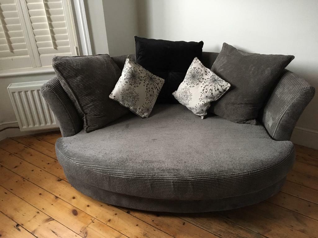 Dion Cuddler Sofa Dfs Grey Fabric In