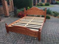 King Size, Solid Pine Bed Frame