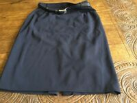 Ladies Black Lined Skirt from Horst Basler Size 14