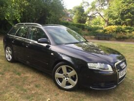 2007 Audi A4 2.7 V6 TDI S Line Avant 180 Bhp 2 Tone full leather Heated seats Parking sensors Satnav
