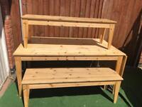 Ikea extendible table & benches