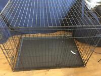 Black Folding Dog Crate