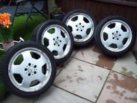 "17"" MONO BLOCK ALLOYS 5X112 - MERCEDES - AUDI - VW GOLF MK5,6,7 T4 - I WILL POST"