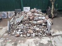 Concrete and various rubble for infill