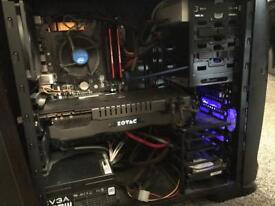 "Gaming Computer i7-4790k GeForce 980ti 16GB Memory BenQ 27"" 120Hz Monitor"