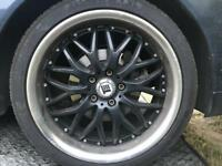 18 inch inovit alloy wheels full set aftermarket good tyres 5 stud 5x110 Vauxhall Saab alfa not bbs
