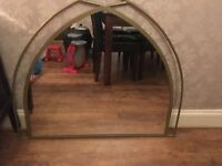Large gold next overmantel mirror