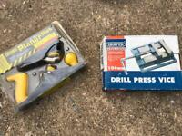 Draper Drill Press Vice & Workzone Planer Set