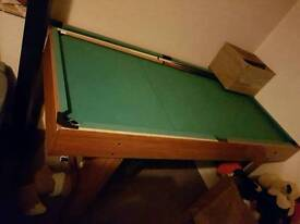 Pool table includes Air hocky and table tennis
