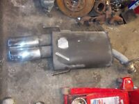 2000 VAUXHALL VECTRA B IRMSCHER REAR EXHAUST BACKBOX