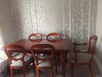 Waring & Gillow cherrywood table and chairs