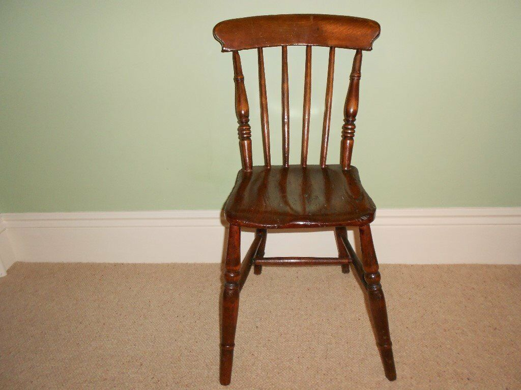 lovely spindle-back chair, farmhouse style, authentic and most