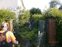 Is YOUR garden in need of a tidy up, clearance, fence erected, all waste removed by us